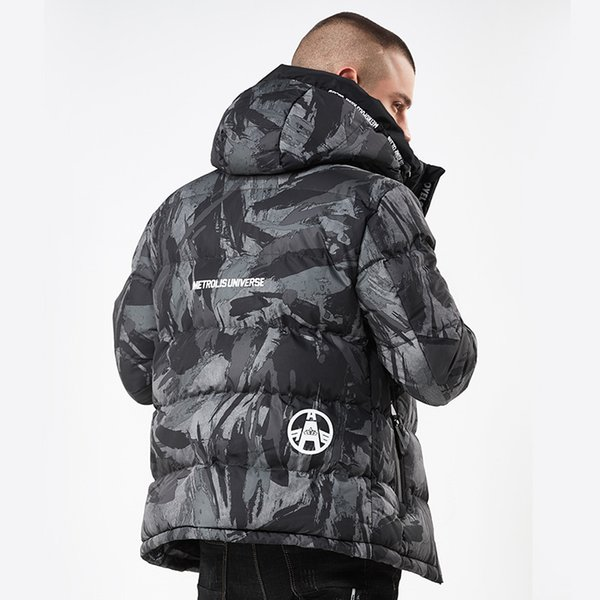 09659654140 NEWDISCVRY Winter Bomber Jackets Men 2018 Thick Warm Hooded Mens Parkas  Camouflage Army Embroider Coat Man Overcoat