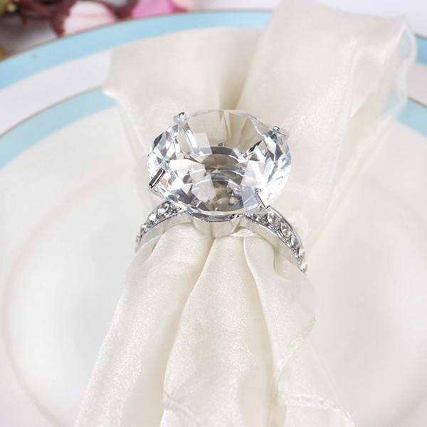 rond de serviette bague diamant