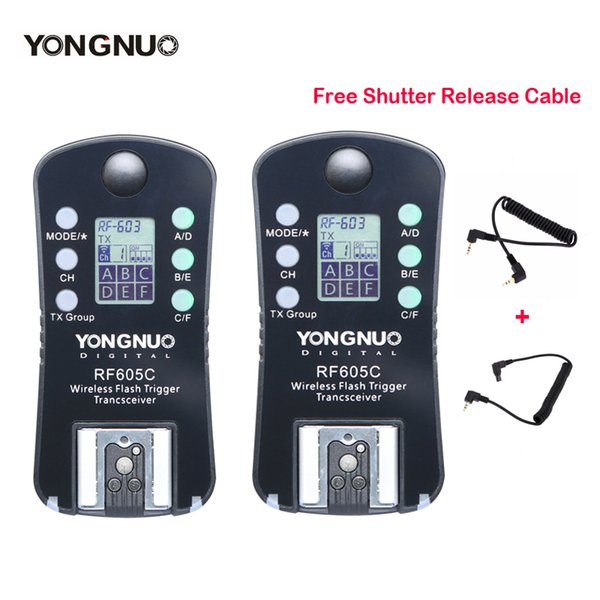 New YONGNUO RF-605 RF605C RF605N Wireless Flash Trigger for   Upgrade Version of RF-603II
