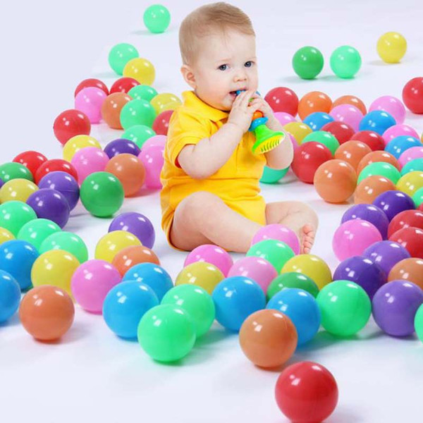 100 pieces 5cm thick eco-friendly marine ball baby bath ball children outdoor toy ball wave balls multicolor