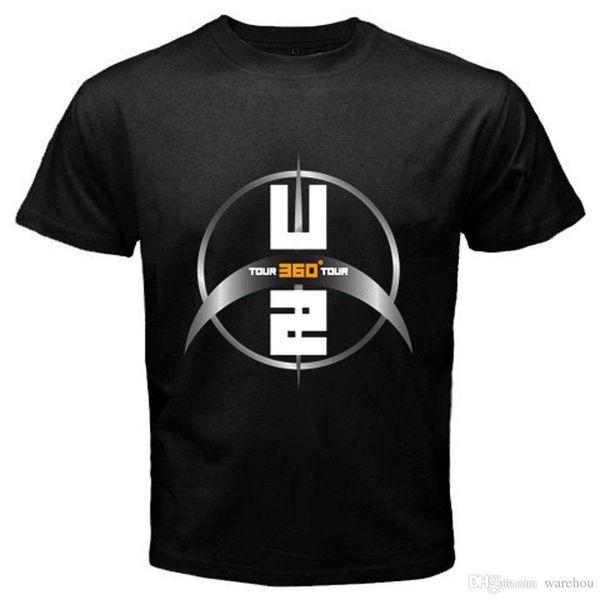 Nieuwe U2 360 Graden Tour Légende du Rock Band Bono mannen T-Shirt Zwate Maat S Tot 2XL T-shirt Mouw Tops Homme Top Tee