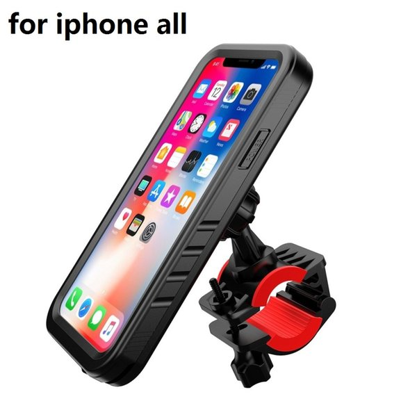 Motorcycle phone holder GPS Cradle Bicycle phone holder bike for iPhone x 8 Waterproof Case bag support moto stand