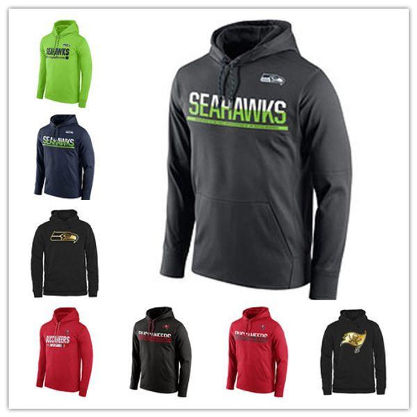 Seattle Seahawks Sideline Circuit Tampa Bay Buccaneers Übungsleistungs-Sweatshirt Pro Line Black Gold Kollektion Druck Hoodies