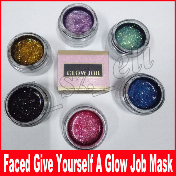 New Arrival GLOW JOB 6 colors Radiance Boosting give yourself a glow job mask Glitter face mask soft facial mask