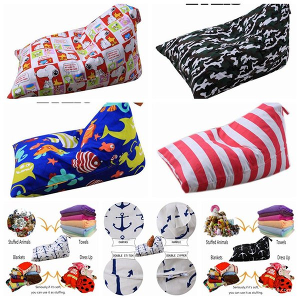 Diamond Shape Storage bag Bean Bag 58 Styles Kids Stuffed Animal Plush Toy Storage Bags Chair Sofa Pouch Toys Kids Handbags 20pcs T1I877
