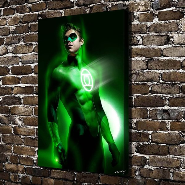 Green lantern,1 Pieces Home Decor HD Printed Modern Art Painting on Canvas (Unframed/Framed)