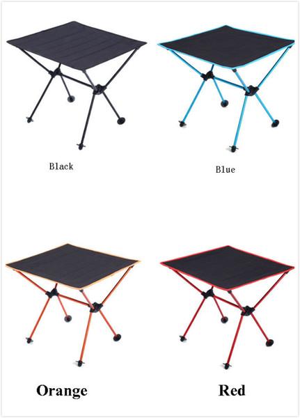 Table de pique-nique BBQ extérieure table pliante portable Oxford tissu aviation en aluminium table de camping en gros 4 couleurs