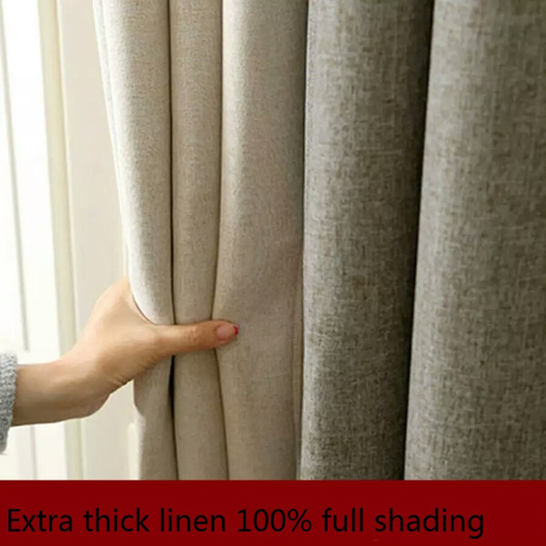 2018 Thicken Solid Color Linen Cotton Balcony Bedroom Hotel Sunshade  Insulation Uv Protection 100% Full Shade Cloth Curtain From Hezekiah,  $36 19 |