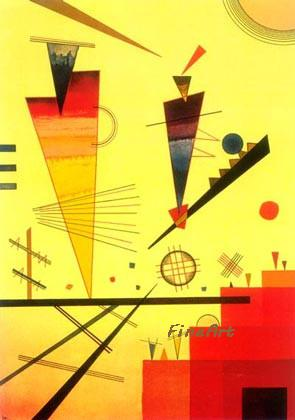 handmade canvas Wassily Kandinsky famous artist painting reproduction hanging wall art discount best oil painting sofa living room décor pre
