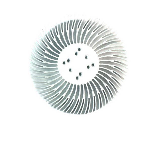 2PCS 3/5/10W high power sunflower circular cooling fin LED aluminium radiator 90*25.4mm with screw for 1-10 w led cool