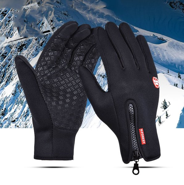 Outdoor winter cycling gloves waterproof touch screen men and women catching wind and keeping warm sports skiing mountaineering gloves are a