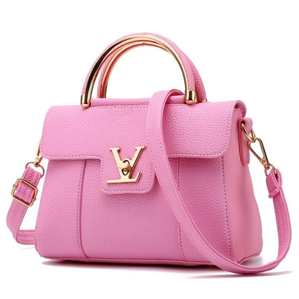 Fashion Designer Women Handbag PU Leather Bags Handbags Ladies Portable Shoulder Bag Office Ladies Hobos Bag Totes T04