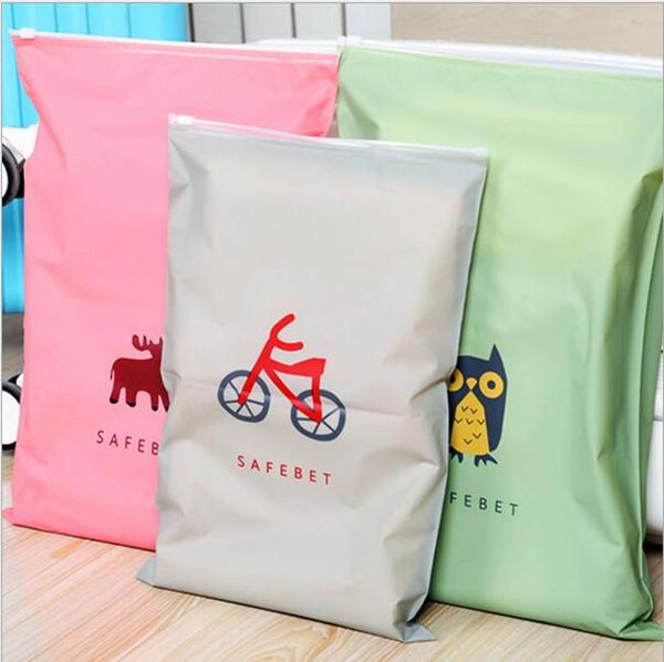 10 Pcs/lot Travel clothing storage bag waterproof sealing bag underwear shoes sorting bags Zip Lock Plastic resealable