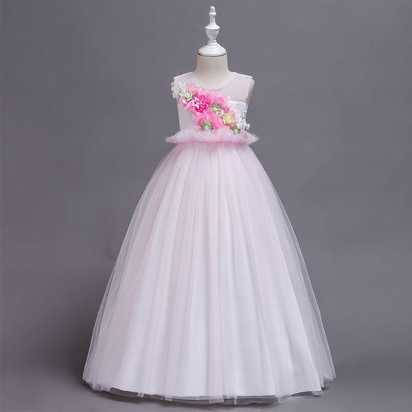 Lace noiva senhora vestido de noiva dama de honra roupas de algodão crianças menina princesa vestido de baile crianças vestidos de baile vestidos de alta qualidade