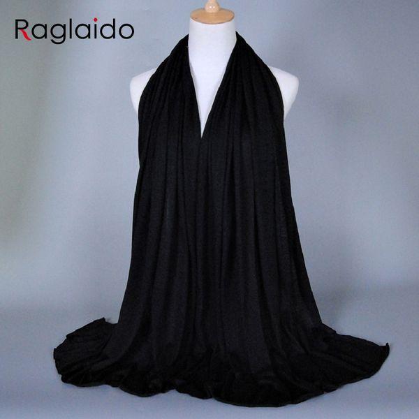 hijab Muslim Scarves 180x85cm super big Sihgle Jersey solid shawl 30colors winter spring autumn cotton scarves headband RGSF002