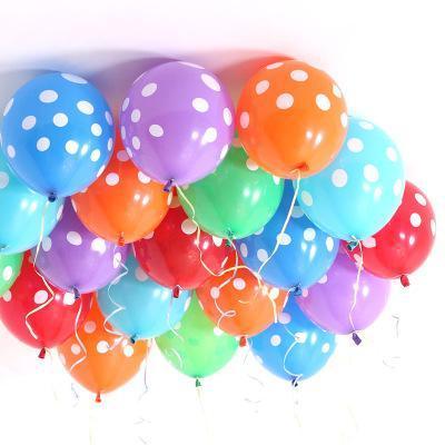 100pcs / lot ballons colorés à pois de mariage se marier décoration chambre de mariage est 12 pouces ballon classique jouets