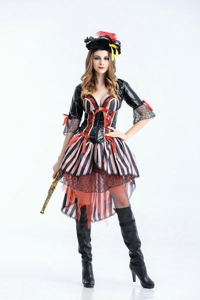 Neue Halloween Piratenkostüm weibliche Modelle, Cosplay Spiel Charakter Uniformen, nach Europa und den Vereinigten Staaten Piratenkostüm Erwachsenen exportiert