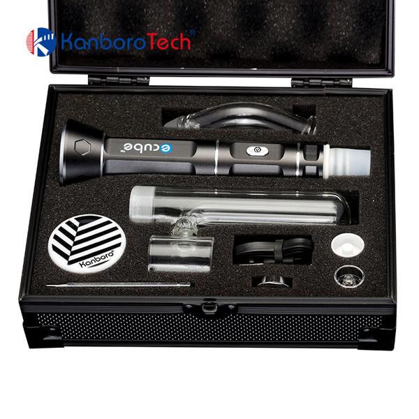Kanboro Ecube portable wax vaporizer dry herb vape pen 18650 battery for ecig dab rig tool kit