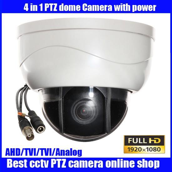 New mini AHD CVI TVI analog ptz cameras with full HD motorized zoom lens ptz dome camera,3x Optical Zoom 2MP AHD Camera