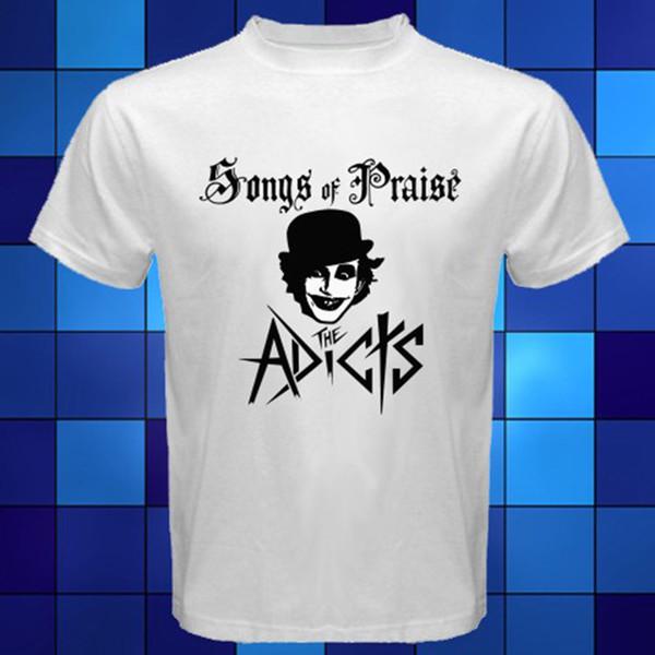 Nouveau The Adicts * Chansons de Louange Punk Band T-shirt Blanc Taille S M L XL 2xl 3xl Mode Manches courtes Promo 100% Coton