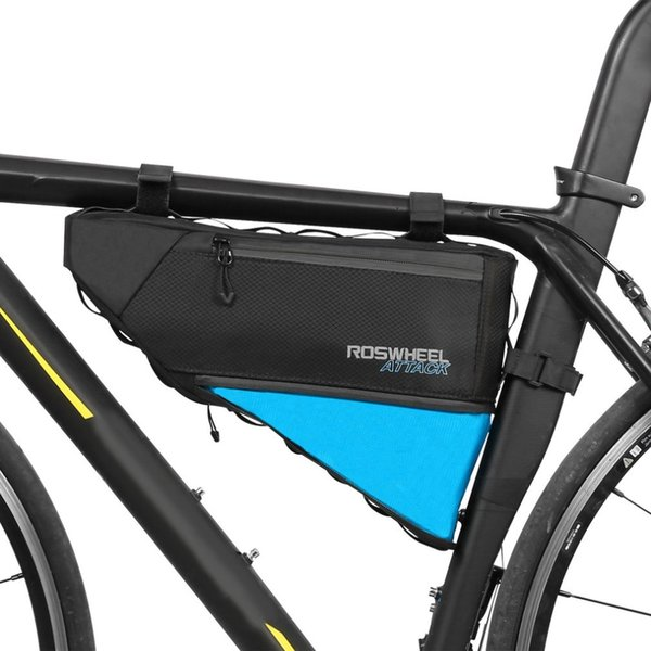 ROSWHEEL ATTACK Series Bicycle Bag Top Front Frame Tube Triangle Bag 4L 100% impermeable accesorios para bicicletas al aire libre top brand