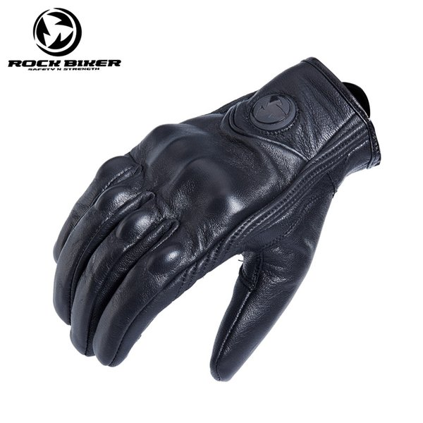 best selling 2018 ROCK BIKER retro full finger motorcycle gloves leather summer men riding motorcycle protection equipment off-road