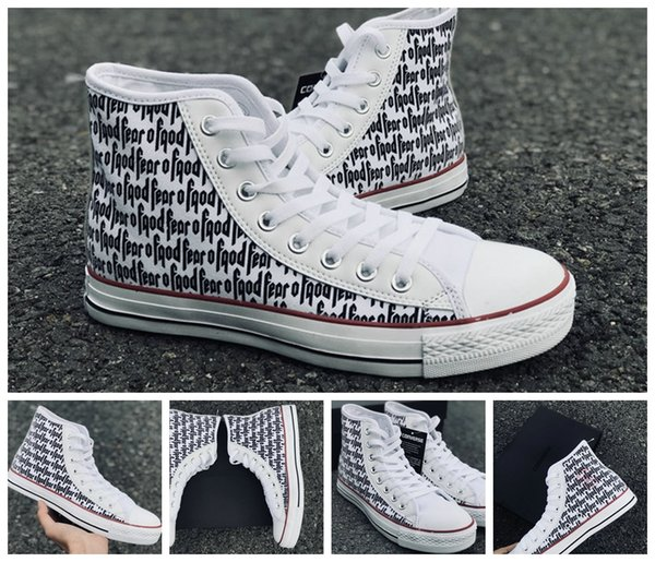 2018 New fear of god X Converse Chuck All Stars Classic white Casual Canvas  Running Shoes b866c15625