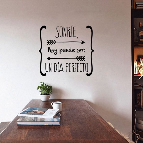 Home Decoration Posters Wall Stickers Spanish Wall Stickers Home Decor , Spanish Art Quote Vinyl Walls Decals Wallpaper for