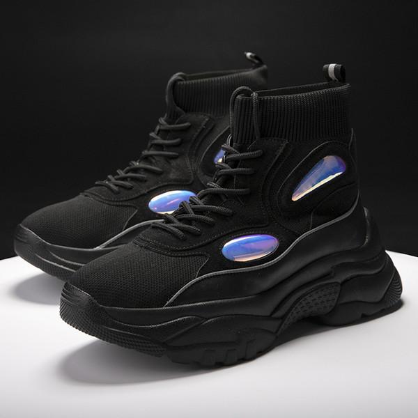 Großhandel JINBAOKE Neue Plattform Männer Turnschuhe Dicke Sohle Laufschuhe Höhe Zunehmende 6 CM Chunky Frauen Schuhe Im Freien Gehen Von Curtainy,