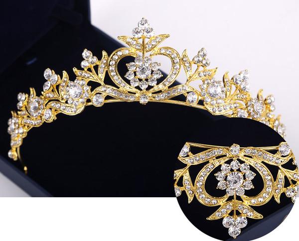 2018 neue Haarschmuck Strass Kopfschmuck Brautkrone Golden Dragonfly Stirnband Geschenk Prinzessin Kopfschmuck Hochzeit Haarschmuck