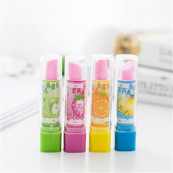 2 Stück Kreative Lippenstift Form Radiergummi Bleistift Schreibwaren Child