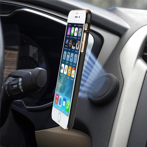 Universal Flat Stick On Dashboard Magnetic Car Mount Holder for Cell Phones and Mini Tablets with Fast Swift-Snap Technology - Extra Slim