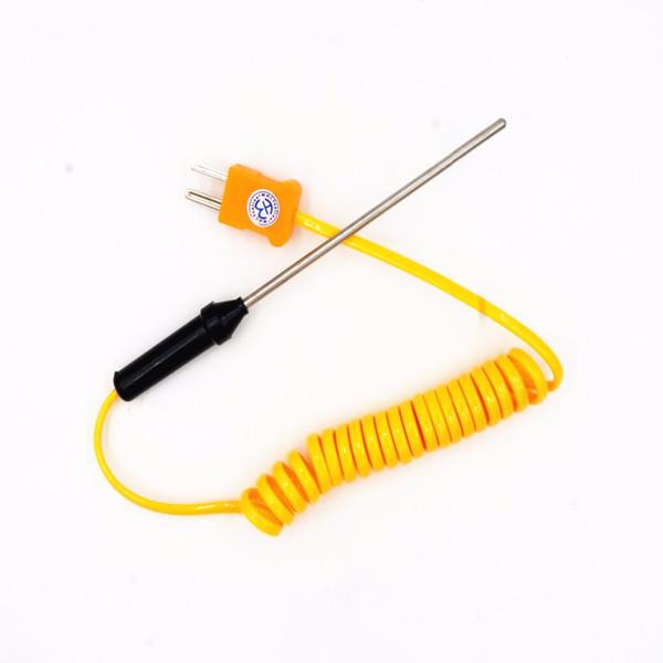 best selling WHCYonline 1pcs 1M Vertical length Wire Temperature Test K-type TP-02 TP02 TP-02B Thermocouple Sensor Probe Test line