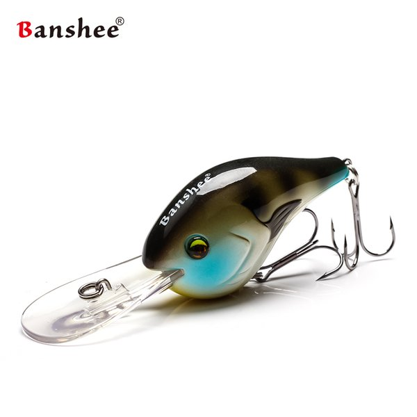Banshee 75mm 24g Devil Deep Chub VC02 Rattle Sound Wobbler Diving Crankbait Floating Fishing Lure Hard Artificial Bait Y18100806