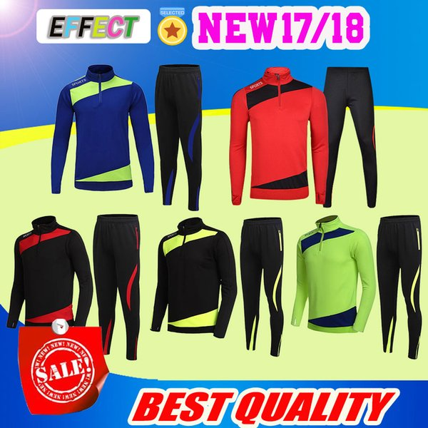 High Quality Running Football Set Long Jacket Pants Men Sport Suit Kids Soccer Training Skinny Leg Pants Pantalon warm-ups Tracksuits Sports