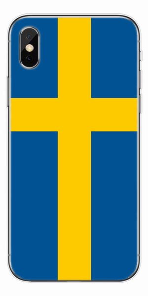 [TongTrade] Soft Silicone TPU For iPhone X 8 7 6s 5s Plus Cover Case Sweden Flag Coloured Painting Luxury Galaxy S9 S8 S7 S6 Edge Plus Case