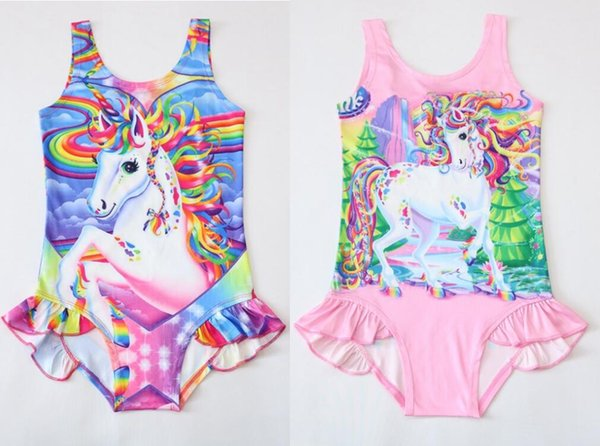 Unicorn Swimwear One Piece Tiger Swimsuit Bikini Big Kids Summer Cartoon Infant Swim Bathing Suits Beachwear 12 design