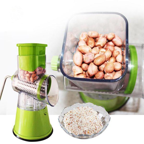 Cortador de legumes multifuncional De aço inoxidável e ABS tambor corte vegetal Batata picado fatias Utensílios de cozinha úteis