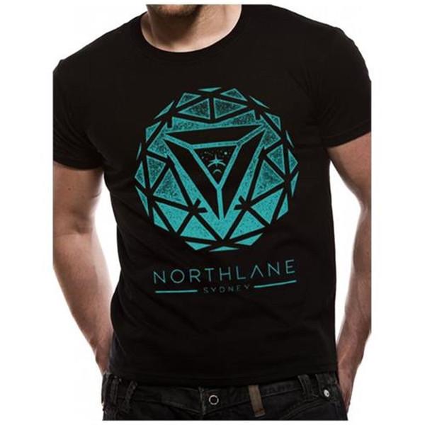 Cid мужская Northlane - спиральная футболка черный ( черный ) маленький производитель - новое прибытие мужской тройники повседневная мальчик Майка топы скидки