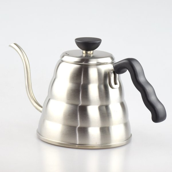 1pc Freeshipping 304 Edelstahl gießen über Tropf Kaffee Wasserkocher Teekanne 1000ml Heißwasser Server V60 Topf Direktverkauf