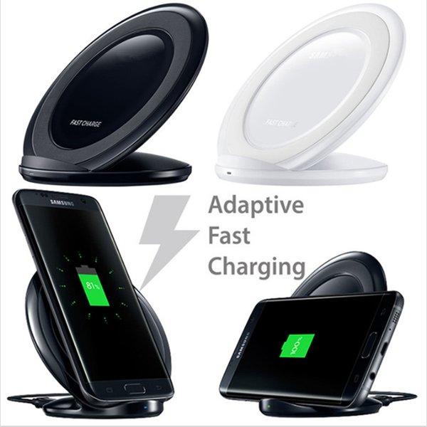 Cojín de carga inalámbrico rápido vertical 1PCS QI cargador rápido inalámbrico con ventilador para Samsung Galaxy S6 edge plus, s7, s8, note8, iphone8