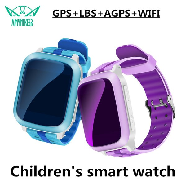 AMYNIKEER smart watch Q72 enfants regardent GPS tracker WIFI étanche écran couleur 1.44 pouces écran antichoc PK Q90 Q100 Q528