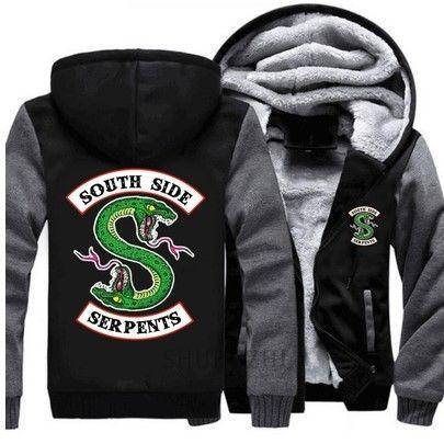 2018 New Riverdale 'South Side Serpents' Sweatshirt Riverdale Graphic Hoodies Mens/Womens Thick Jacket
