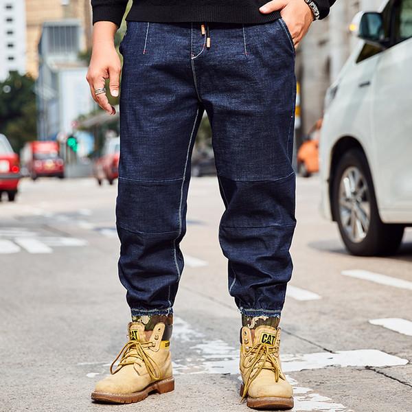 Men Plus Size Pants Jeans Strech Comfortable 32 34 36 38 40 42 44 46 Mens High Stretch Large Size Trouser Loose Jeans for Men