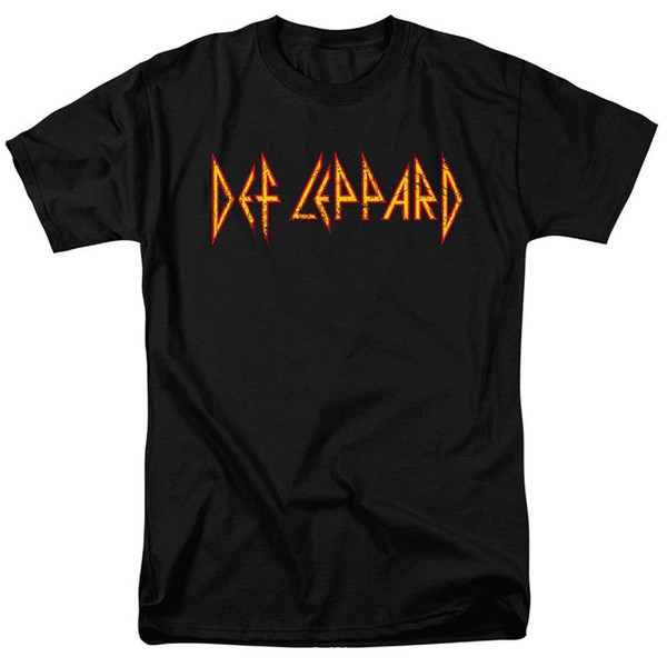 2017 Fashion funny casual Man Tops tees Def Leppard Logo T Shirt and Exclusive Stickers Men's Shirts Men Clothes Novelty Cool