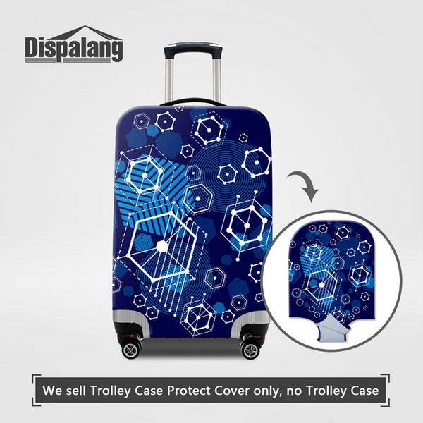 3D Printing Geometric Travel Luggage Protective Cover For 18 20 22 24 26 28 30 Inch Trunk Geometry Patterns Case On Suitcase Dust Rain Cover