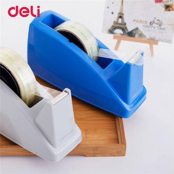 Deli 1pcs Practical Plastic Adhesive Tape cutter tape Dispenser Office Desktop carton supplies Cutter size 24mm
