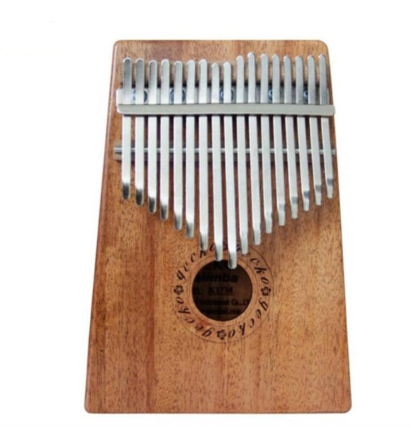 top popular 17 Key K17M Kalimba 17 African Thumb Piano Finger Percussion Keyboard Music Instruments Kids Marimba Wood 2021