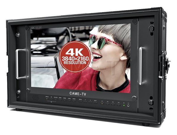 "CAME-TV 15.6"" 12G-SDI 4K Broadcast Director Monitor with 12G-SDI, HDMI, Tally inputs"