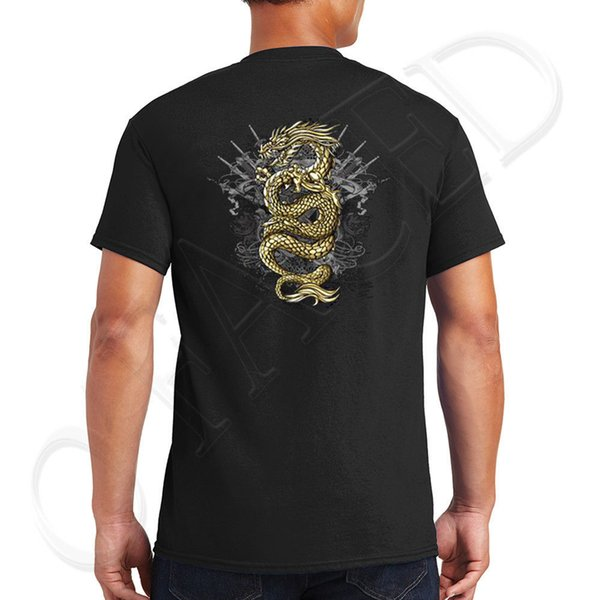 100% Cotton T Shirts Brand Clothing Tops Tees O-Neck Short Asian Tradition On The Back Of Tee For Men Funny Mens T Shirt